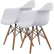 modern chair. Giantex Set Of 2 Mid Century Modern Molded Style Dining Arm Chair Wood Legs