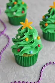 Mini Christmas Tree Cupcakes
