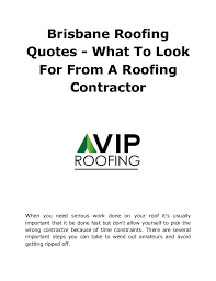 Roof Quotes Impressive Brisbane Roofing Quotes What To Look For From A Roofing Contractor