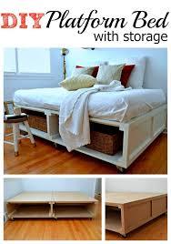 diy bed frames photos diy platform with storage