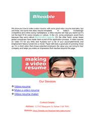 Video Resume Tips Making A Video Resume Biteable By Kevin Fredy Issuu