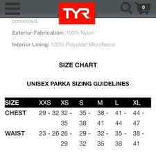 Tyr Swim Team Parka Size Small