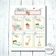 Apartment Chore Chart Room Cleaning Checklist Cleaning My Room Clean My Room Chart Pink