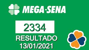 Resultado da Mega Sena 2334 de hoje 13/01/2021 - Resultado da mega sena de  hoje - YouTube