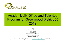 academically gifted and talented program for greenwood district 502016