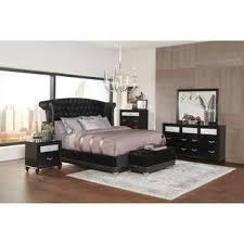 Black bedroom furniture sets Black Metal Silver Orchid Andra Black 4piece Upholstered Bedroom Set Overstock Buy Black Bedroom Sets Online At Overstockcom Our Best Bedroom
