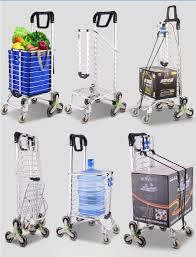 Portable Light Carts Portable Mute Hand Carts Cart Folding Pull The Goods Six