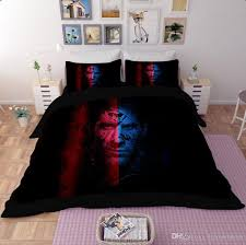 printed bedding set bedsheet football team pattern polyester twin queen size home textiles duvet covers bed linen mix whole king size duvet cover white