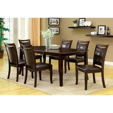 oval kitchen table set. Furniture Of America Clemmine 7-piece Espresso Extendable Dining Set Oval Kitchen Table