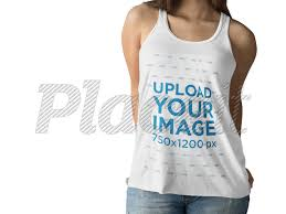 Tank Top Mockup Placeit White Girl Wearing A Tank Top Mockup While Against A