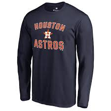 Astros Tall T-shirt Victory Big Arch Houston Men's Navy amp; Sleeve Long