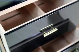 50 cigar cuban cohiba black humidor spanish cedar box portable travel cigar piano finish case cedar wood paint
