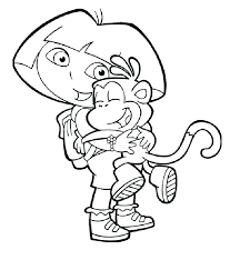 Small Picture Dora Coloring Pages