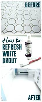 how to make grout white again cleaning between marble tiles