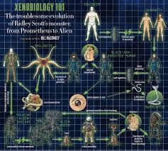 Alien Chart Alien Covenant New Infographic Charts Evolution Of The