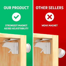 Child Safety Magnetic Cabinet Locks Invisible Baby Proof Latch Set
