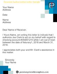 Financial Authorization Letter Templates