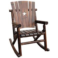 outdoor furniture rocking chairs. Leigh Country Char Log Patio Rocking Chair With Star-TX 93605 - The Home Depot Outdoor Furniture Chairs I