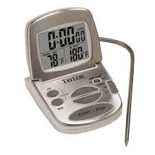 taylor gourmet digital silver lcd food thermometer with t