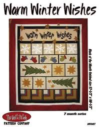 block of the month warm winter wishes