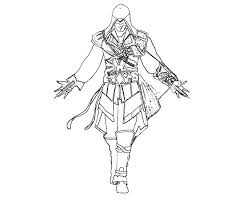 Assassins Creed Coloring Pages Assassin To Print Pictures 4 Colori