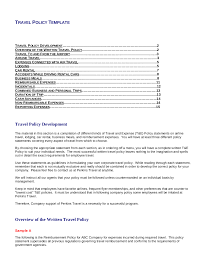 Free 22 Travel Policy Examples In Pdf Google Docs Pages