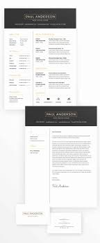Business Card Design Templates Great Free Minimal Resume Cv Design