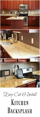 No Backsplash In Kitchen How To Install An Easy Backsplash Without A Wet Saw Diy Danielle