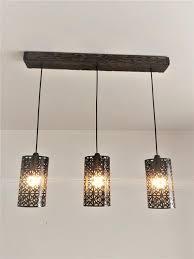 farmhouse wood pendant light fixture