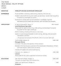 resume examples for warehouse worker general warehouse worker resume samples associate for sample of