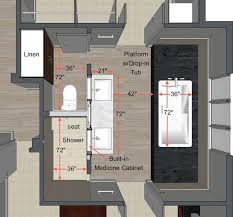 Master Bathroom Dimensions Simple Design