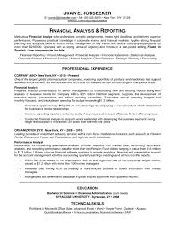 Profile Summary For Finance Resume Free Resume Example And