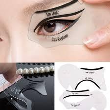 12pcs makeup cat eyeliner eye liner smokey guide stencil model shaper quick tool ebay