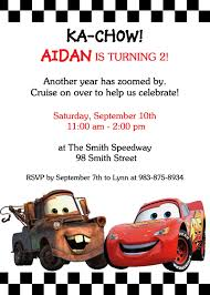 Car Birthday Invitations Cars Party Invite In 2019 Birthday Party Invitations Cars
