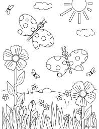 Super coloring has 30 free spring coloring pages that feature flowers, trees, rain, butterflies, animals, and more. Flower Coloring Pages Skip To My Lou