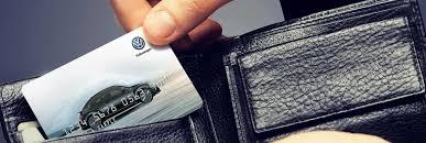 Official Volkswagen Service Credit Card Genuine Vw Service