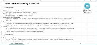Baby Shower Planning Checklist Template Printable Danielmelo Info