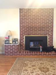 update red brick fireplace makeover ideas