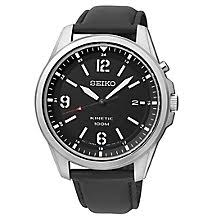 men s watches designer fashion watches h samuel seiko men s black dial black leather strap watch product number 2969718