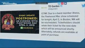fleetwood mac postpones philadelphia tour dates due to illness wwltv com