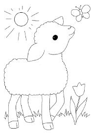 Kleurplaat Schaap Inkleur Easter Crafts Sheep Crafts En Farm