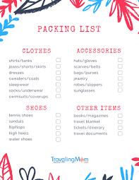 International Travel Packing Checklist Ultimate Packing List For Family Travelers Travelingmom