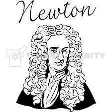 Newton ニュートン線哲学者イラストmusic音楽ロックrock