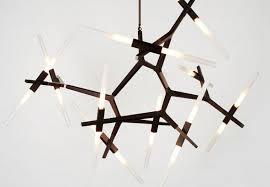 image of modern crystal chandelier