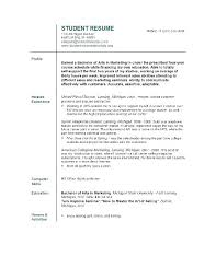 College Freshman Resume Example Math Resume Format For