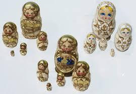 lot 3 russian wooden nesting dolls pyrography babushka matryoshka gifts art 13 00 globebids uk