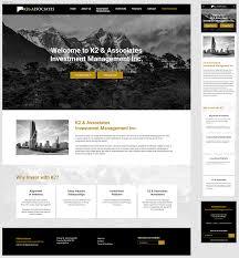 Design Manager Portfolio Upmarket Elegant Finance Web Design For K2 Associates