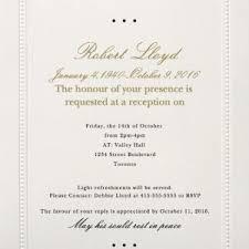 Memorial Announcement Cards Memorial Announcement Cards Funeral Announcement Template Basic