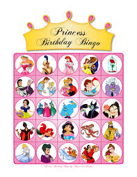 1 princess birthday bingo princess birthday bingo by alana lee designs