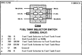 need help a short in fuel pump electrical ford truck 1993f250fuelselectorswitchdiesel gif